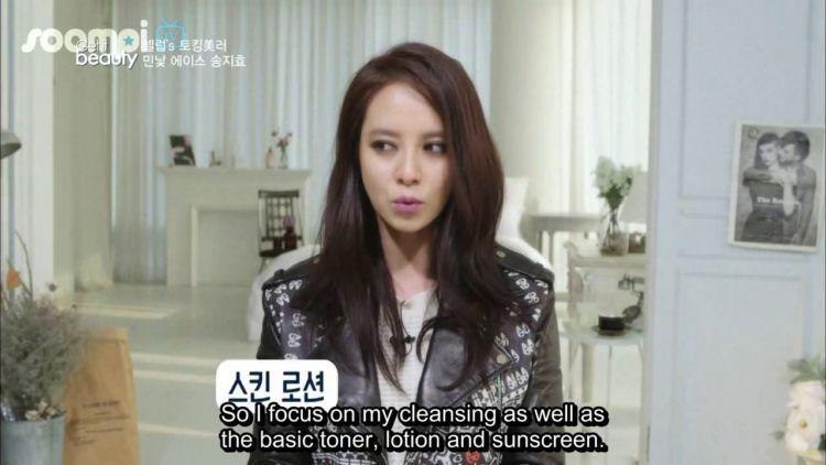 Ji Hyo di program kecantikan