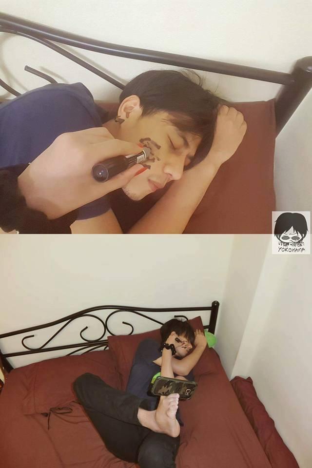 Cie yang lagi tidur terus digangguin.