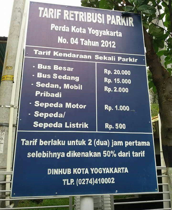 tarif parkir di jogja