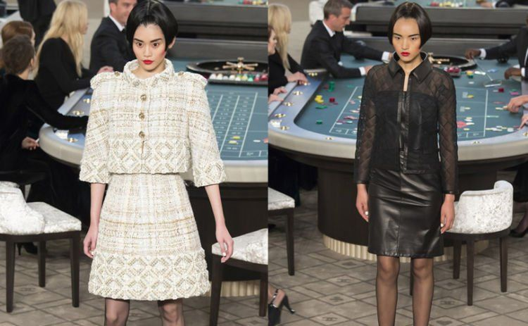 Koleksi Chanel 2015 ini sepenuhnya di print, tidak dijahit