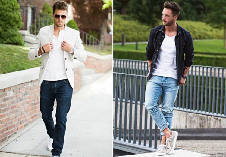 atasan putih dan jeans :3