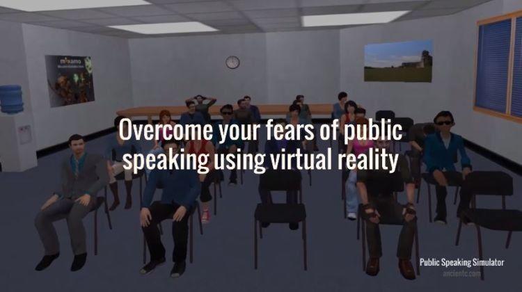 Di VR, ada yang namanya public speaking simulator yang akan membantumu mengatasi grogi