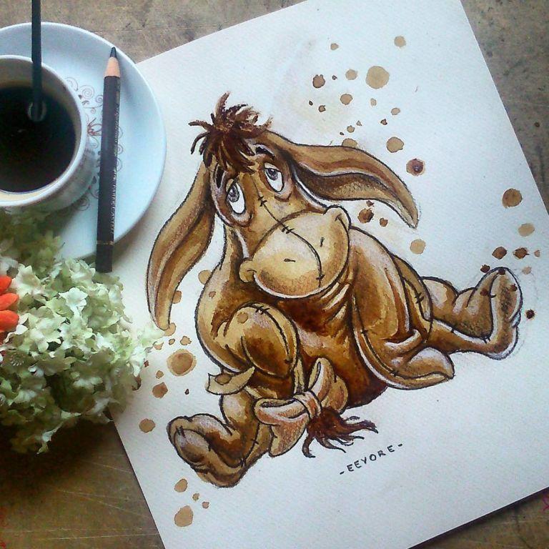 15 lukisan ini pakai kopi sebagai tintanya dan hasilnya
