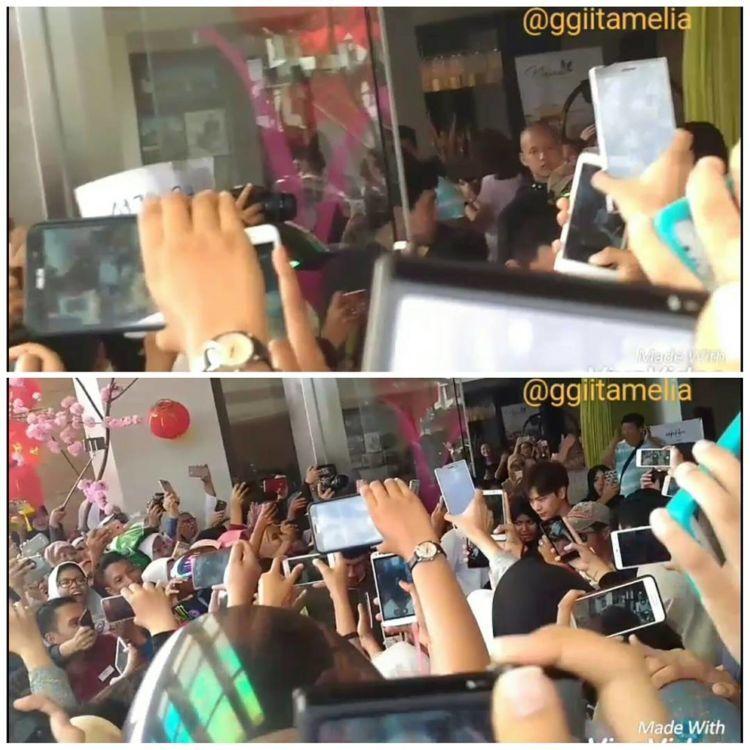 Penggemar berdesakan via IG @ggiitamelia