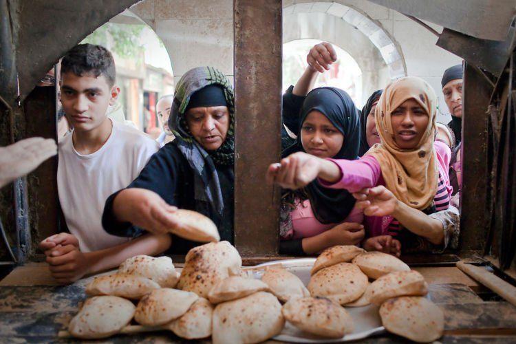 Roti jadi makanan utama di Mesir
