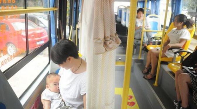 Pojok menyusui di bus
