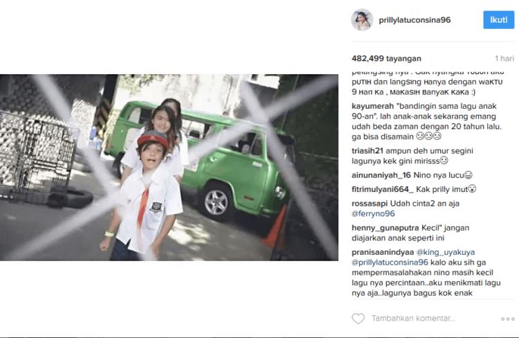 Berbagai tanggapan netizen tentang lagu Nino