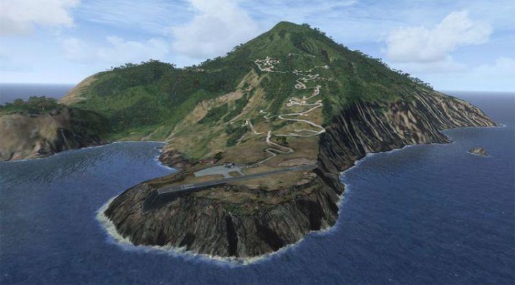bandara di pulau saba