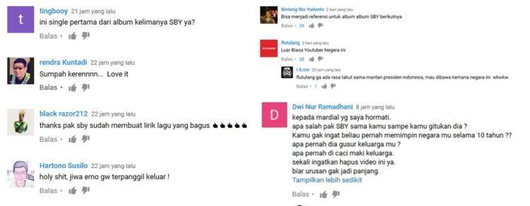Komentar netizen tentang lagu Emo SBY ini