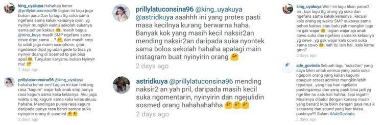 Uya Kuya, Astrid, dan pencipta lagunya ikut balas komentar