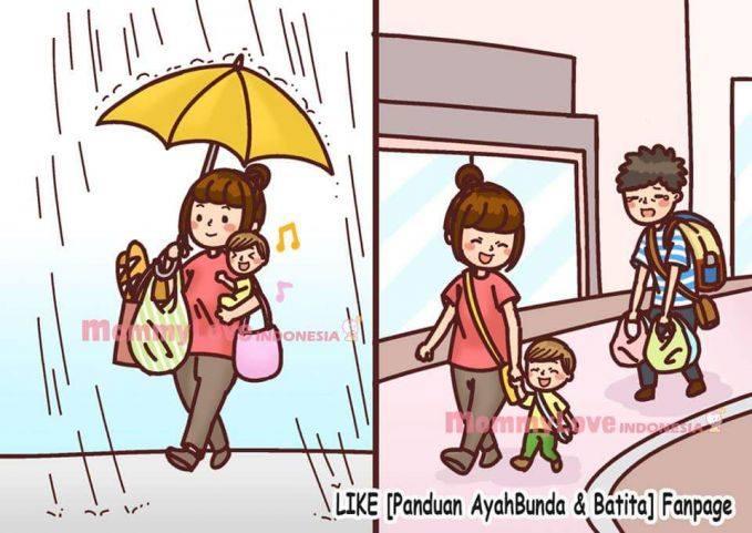 62+ Gambar Animasi Lucu Ibu Dan Anak Terbaik