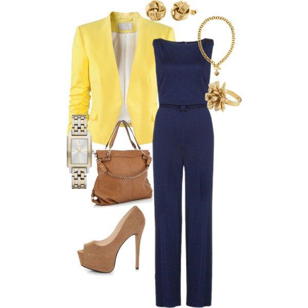 Yellow look dengan jumpsuit