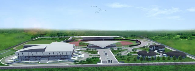 desain Mimika Sport Complex