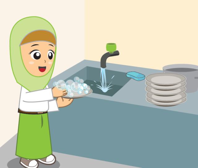 Anak Mencuci Piring