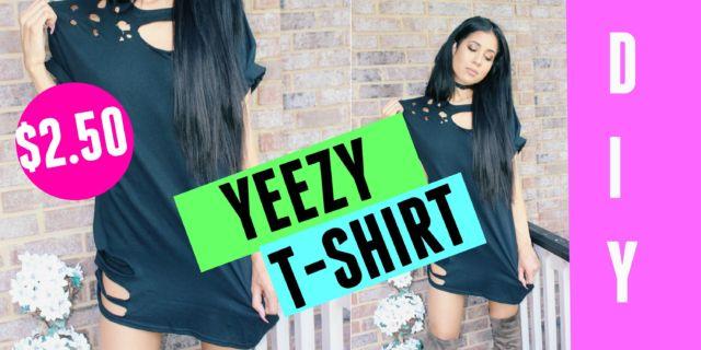 DIY Yeezy Distressed T-shirt