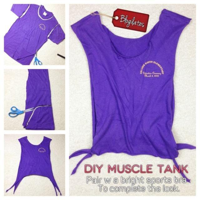 DIY Muscle Tank Tee