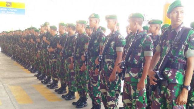 apel TNI sebelum melaksanakan penugasan