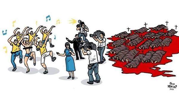 Blind journalist