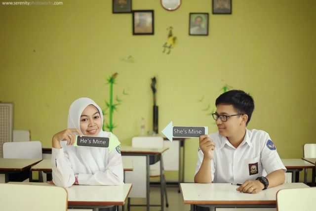 Konsep Prewedding Di Sekolah Ketika Pelajaran Sedang Berlangsung