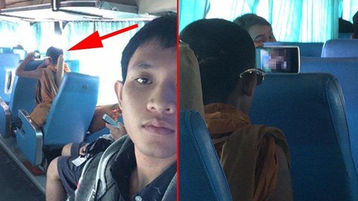 Viral, Seorang Biksu Nonton Video Porno Terang-terangan di Dalam Bus