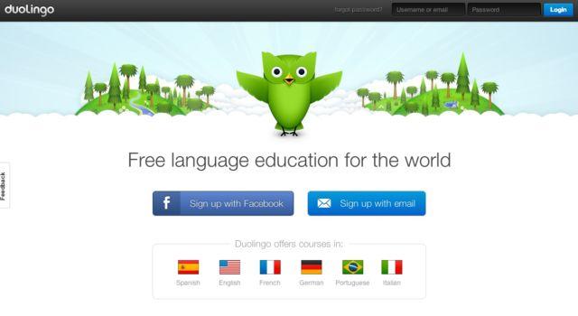 Tampilan dari duolingo.com