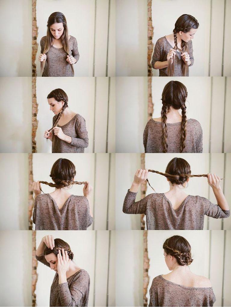 hipwee twisted maiden braid bun