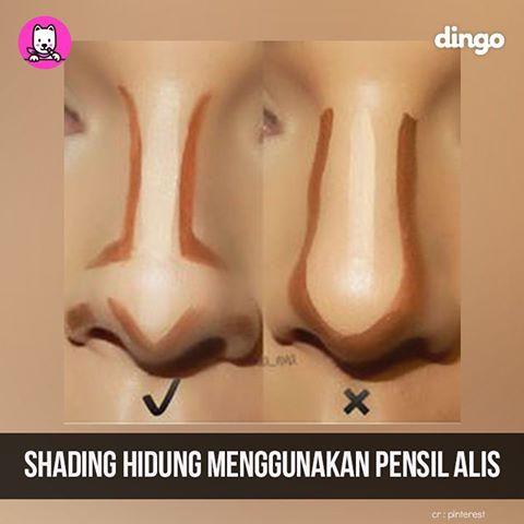 Shading dapat membuat hidung tampak mancung