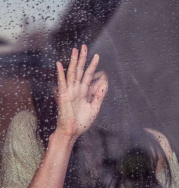 person-woman-hand-rainy