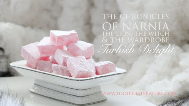 Turkish Delight recipe from The Chronicles of Narnia