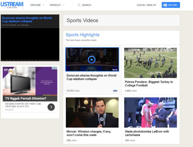Ustream TV Sports