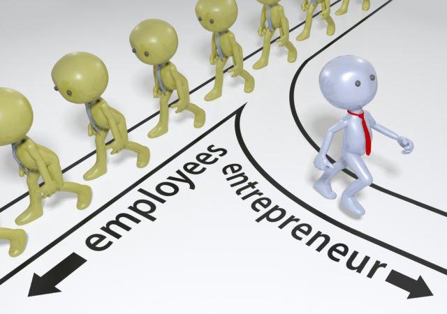 entrepreneur and employees