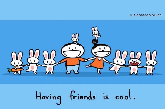 Punya banyak teman itu seru