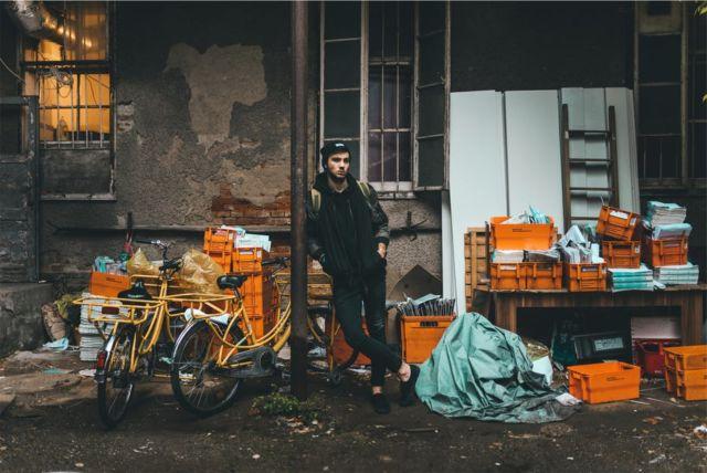 work-bicycles-orange-standing