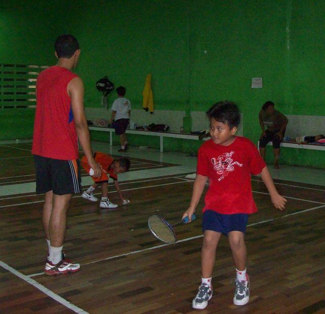 badminton dengan ayah