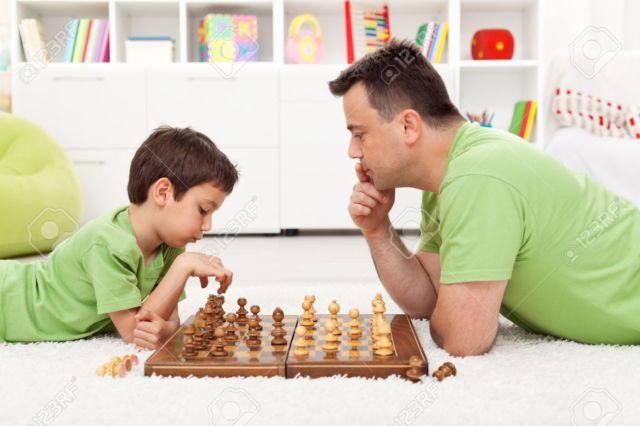 Main catur dengan ayah