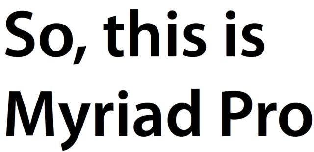 Myriad Pro, cocok untuk semua resume