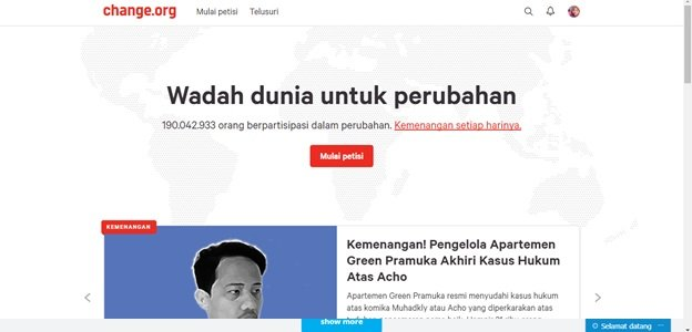 Website change.org