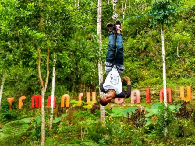 flying fox Taman Sungai Mudal