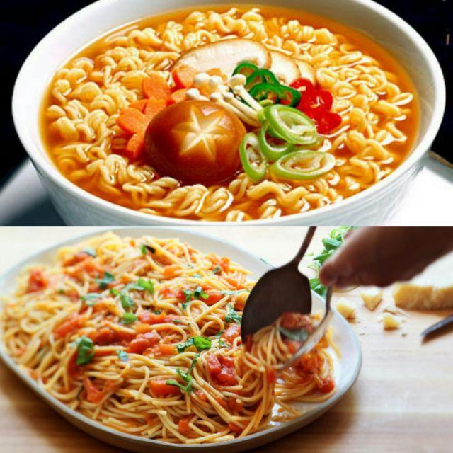Mie atau Spaghetti