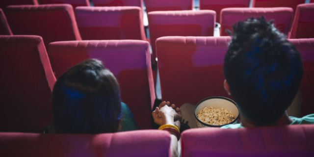 Couple in theater