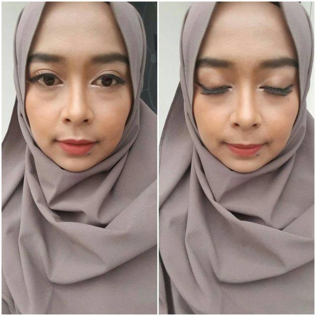 Aplikasikan Eyeliner Dekat dengan Garis Lipatan Mata (Foto Penulis Saat Makeup Client @nada.mua)