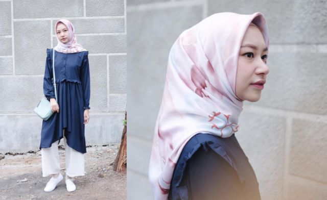 Hijab Bahan Voal Polos 86