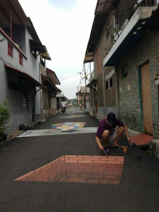 Kampung 3d Di Depok Mendadak Viral Begini Foto Foto Kerennya