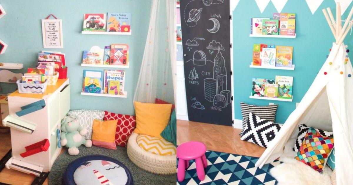 Nggak Perlu Ruangan Luas 10 Inspirasi Pojok Baca Ini Bikin Anak Anak Makin Tertarik Dengan Buku
