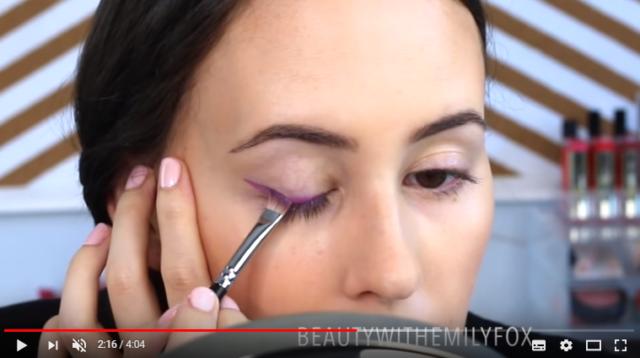 Eyeliner coklat pakai liquid lipstick