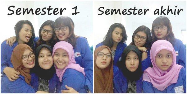 semester 1 vs semester akhir
