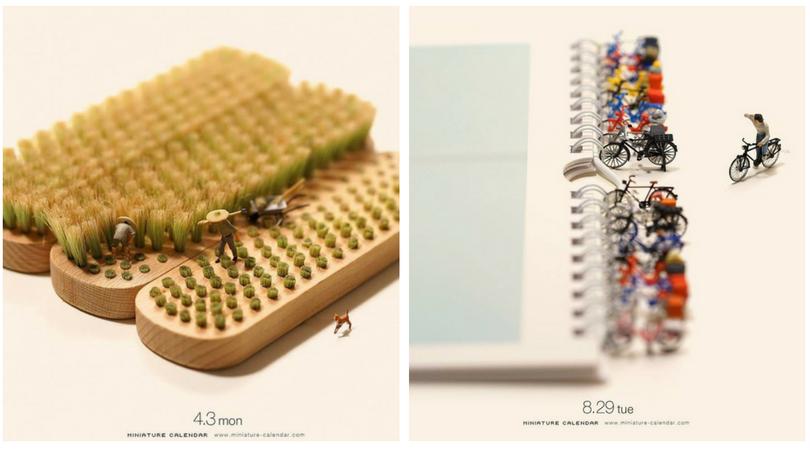15 Foto Seni Miniatur dari Barang Bekas yang Keren Abis ...