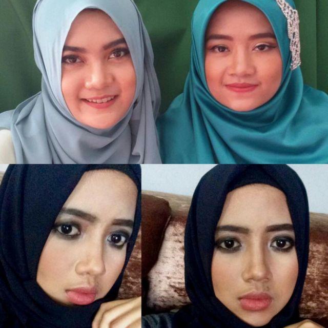 Contoh Lipstik Berwarna Nude (Foto Penulis Saat Makeup Client @nada.mua)