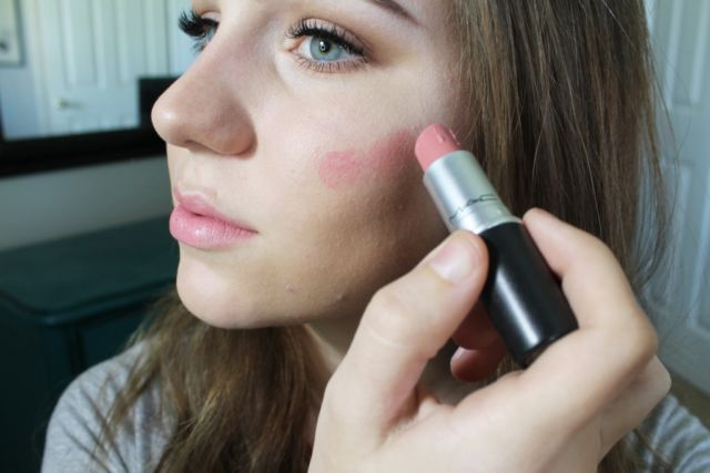 lipstik pengganti blush on