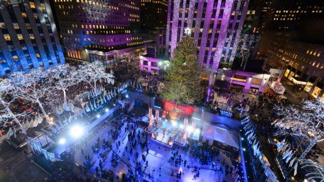 Pohon Natal raksasa New York